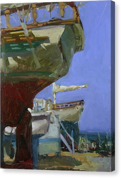 Betty Billups Canvas Print - Infinity Awaiting Winter - Plein Air Catalina Island by Betty Jean Billups