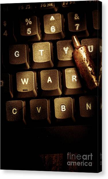 Electronic Instruments Canvas Print - Information War by Jorgo Photography - Wall Art Gallery