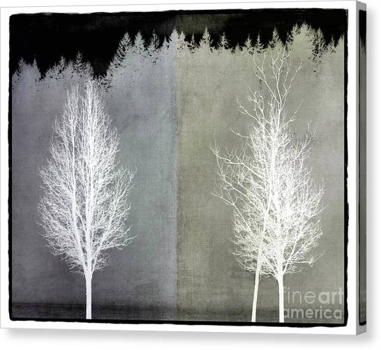 Infrared Trees With Texture Canvas Print