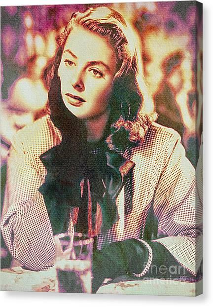 Ingrid Bergman - Movie Legend Canvas Print