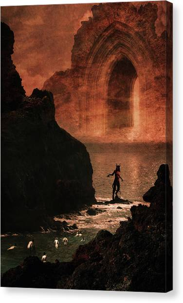 Darkness Canvas Print - Initiation by Cambion Art