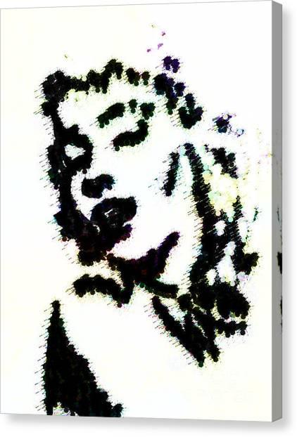 Ink Blot Monroe Canvas Print by Arianna Trombley