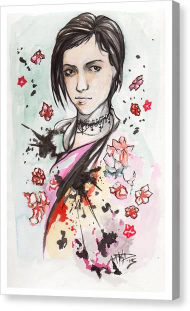 Ink Blots Canvas Print by Miguel Karlo Dominado