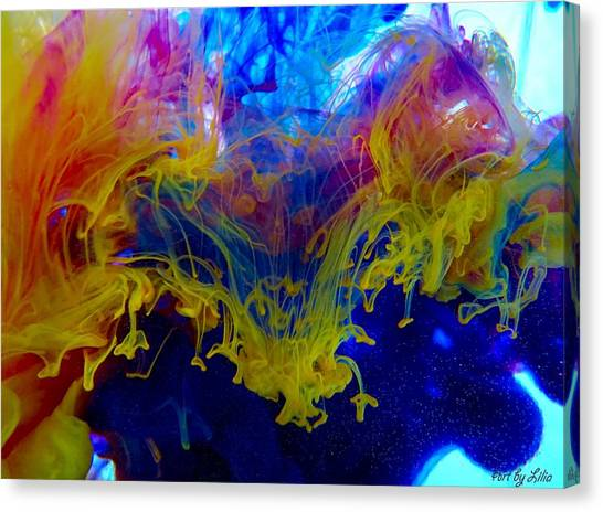 Ink Explosion 9 Canvas Print