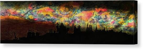 Inky Inky Night II Canvas Print