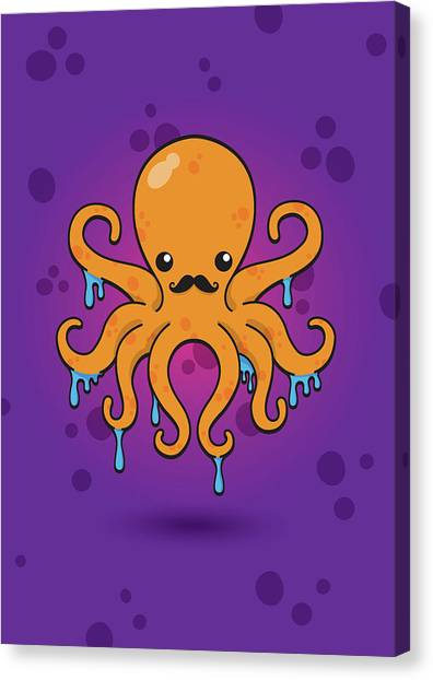Octopus Canvas Print - Inky by Samuel Whitton