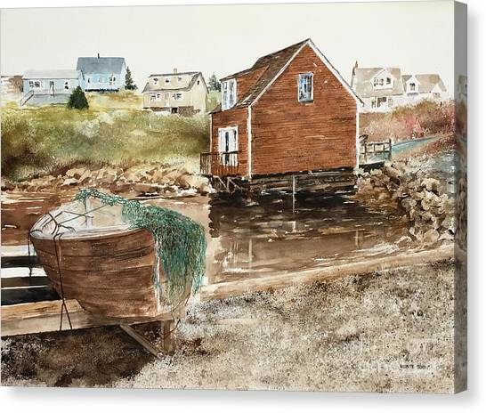 Inlet At Peggy's Cove Canvas Print