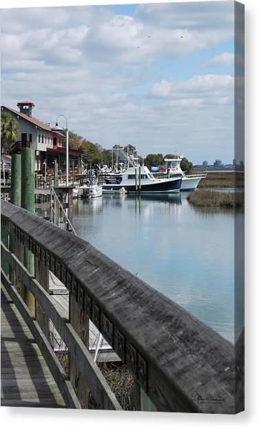 Inlet Fishing Fleet Canvas Print