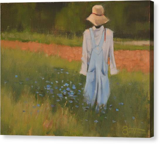 Scarecrows Canvas Print - Inman Scarecrow by Todd Baxter