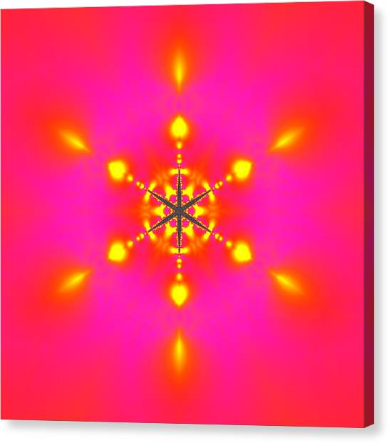 Canvas Print featuring the digital art Inner Comet 3 by Robert Thalmeier