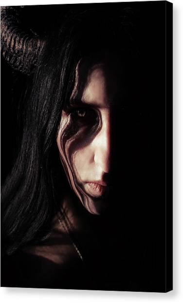 Satan Canvas Print - Inner Fire by Cambion Art