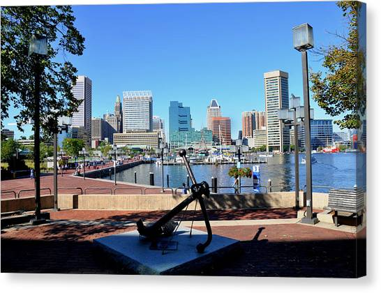 Inner Harbor Anchor Canvas Print