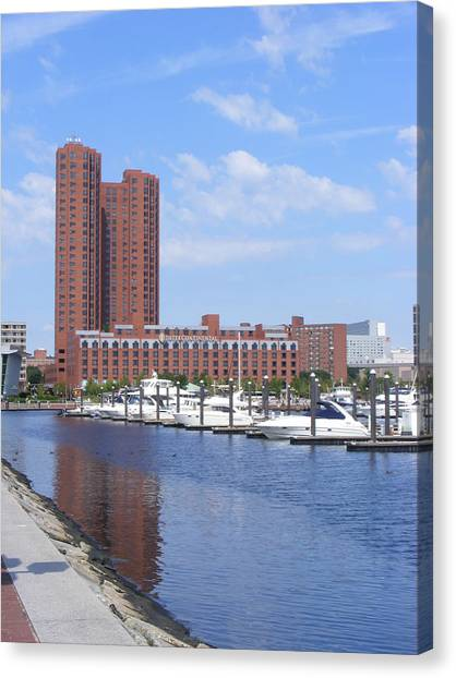 Inner Harbor Canvas Print by James and Vickie Rankin