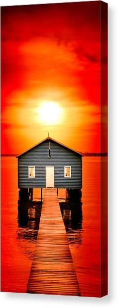 Blood Canvas Print - Blood Sunset Panorama by Az Jackson