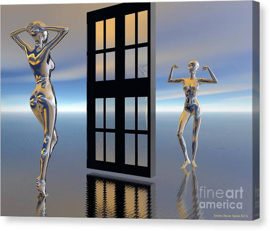 Canvas Print featuring the digital art Inner Strength by Sandra Bauser Digital Art