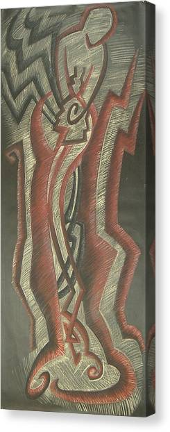 Inner Turmoil  Original Canvas Print by Donald Burroughs