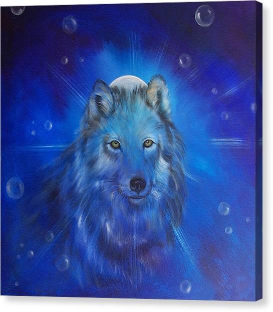 Wolf Moon Canvas Print - Inner Voice by Sundara Fawn