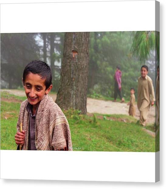 Innocent Canvas Print - Innocent Faces Of Murree Roaming About by Rooman Ul Haq