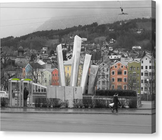 Canvas Print featuring the photograph Innsbruck Art by Dylan Punke