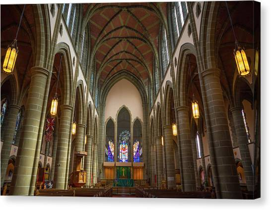 Inside Christchurch Cathedral Canvas Print