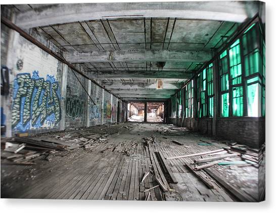 Inside Detroit Packard Plant  Canvas Print