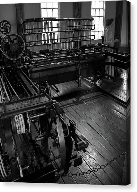 Inside Slater Mill Canvas Print