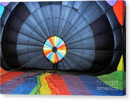Canvas Print featuring the photograph Inside The Balloon by Craig Leaper