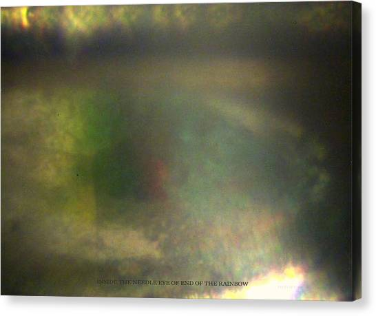 Inside The Eye Of End Of The Rainbow Canvas Print