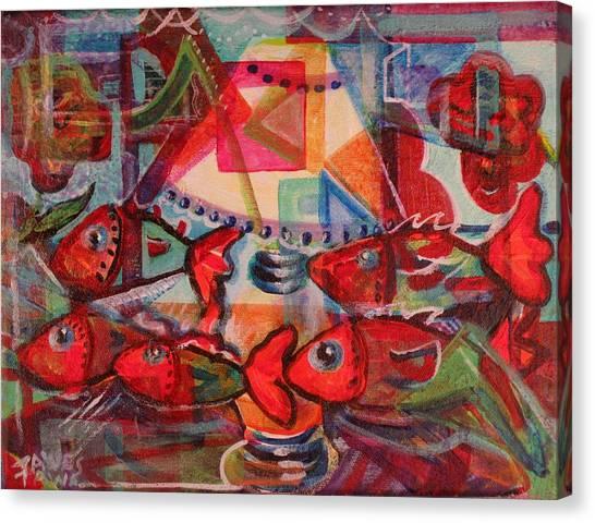 Inside The Fish Tank Canvas Print