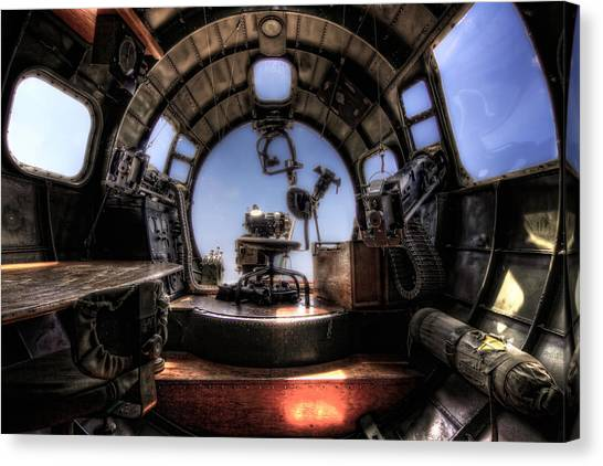 Inside The Flying Fortress Canvas Print