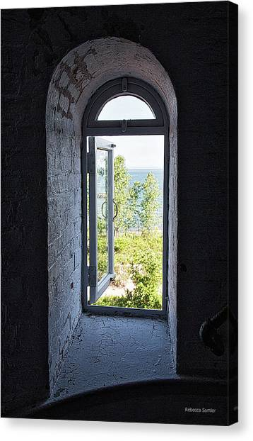 Inside The Lighthouse Canvas Print