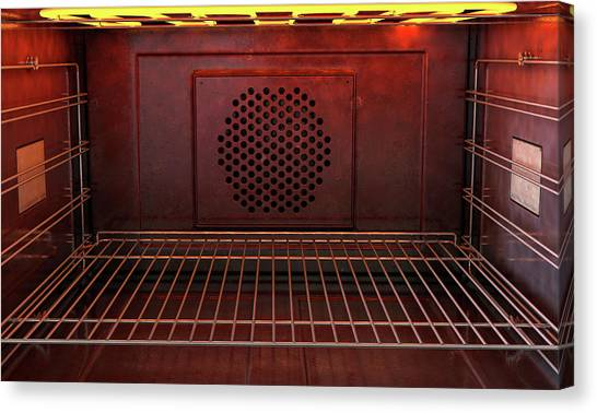 Oven Canvas Print - Inside The Oven Front by Allan Swart