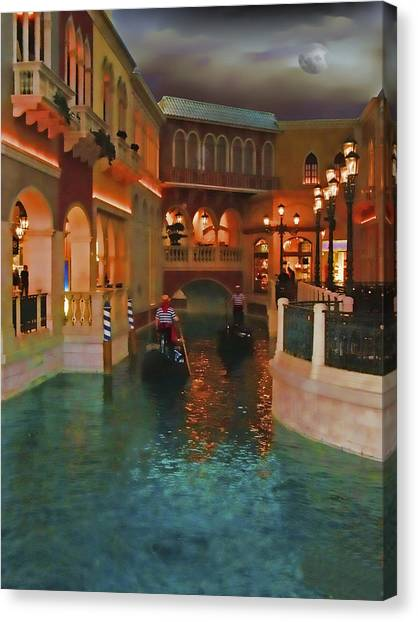 Inside The Venetian Casino Las Vegas Canvas Print