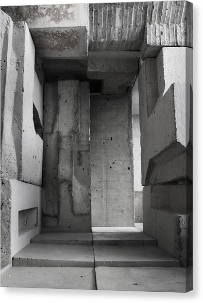 Inside The Walls 2 Canvas Print by David Umemoto