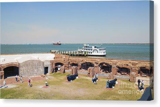 Inside View Of Fort Sumter Canvas Print