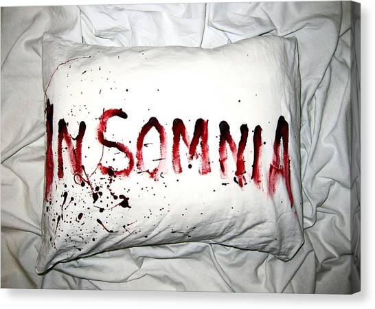 Blood Canvas Print - Insomnia by Nicklas Gustafsson
