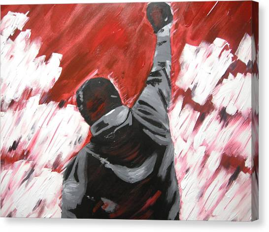 Sylvester Stallone Canvas Print - Inspiration  - Rocky Balboa by Holly Donohoe