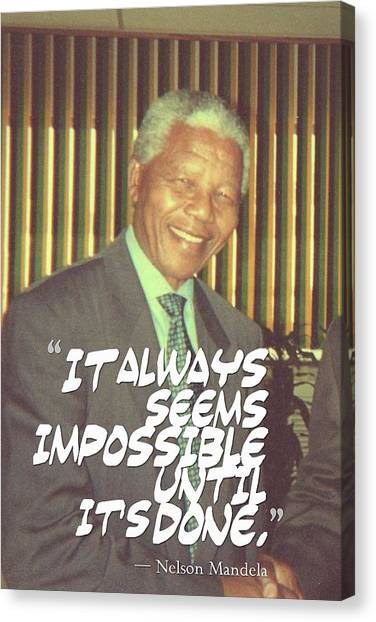 Inspirational Canvas Print - Inspirational Quotes - Motivational - 87 Nelson Mandela by Celestial Images