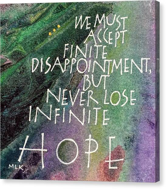 Inspirational Saying Hope Canvas Print