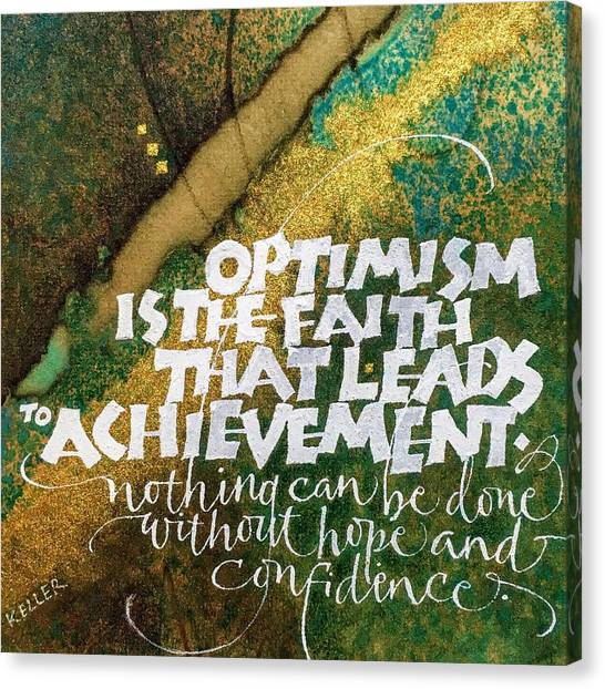 Inspirational Saying Optimism Canvas Print