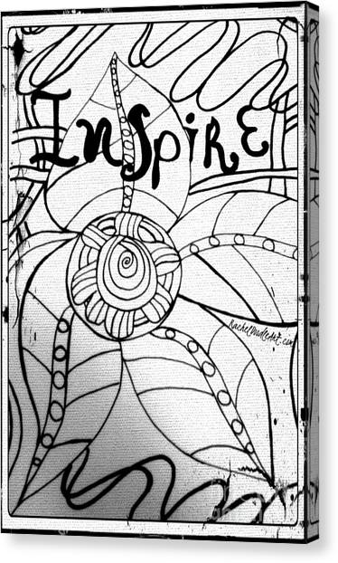 Canvas Print featuring the drawing Inspire by Rachel Maynard