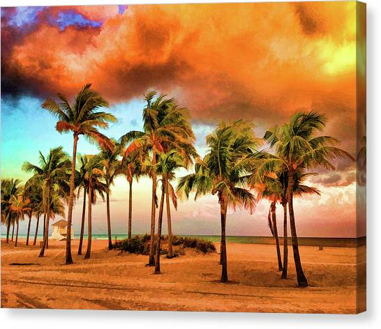 Crandon Park Beach Canvas Print