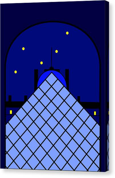 Le Louvre Canvas Print - Inspired By The Louvre Pyramid by Asbjorn Lonvig