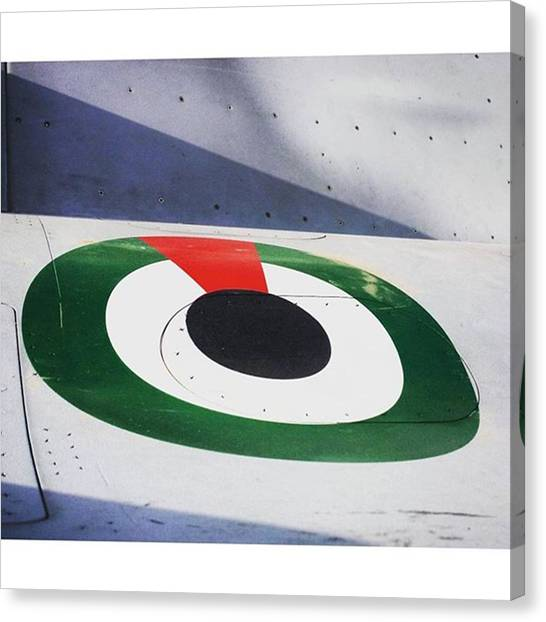 F16 Canvas Print - Inspired Insignia. #dubai #mydubai #uae by Matthew Gilbert