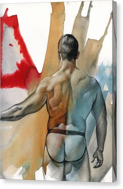 Male Nude Art Canvas Print - Instant 3 by Chris Lopez