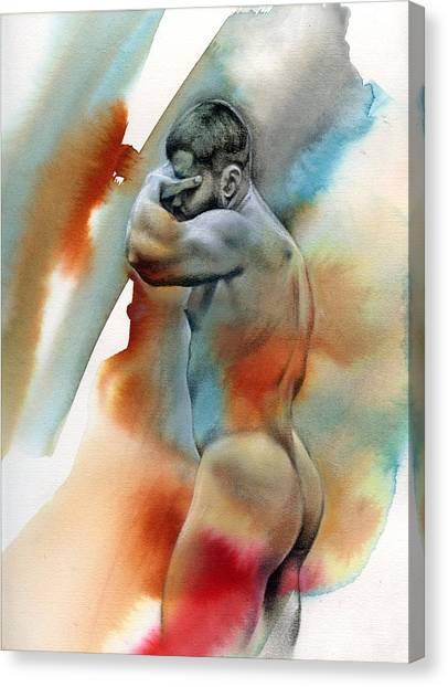 Male Nude Art Canvas Print - Instant 5 by Chris Lopez