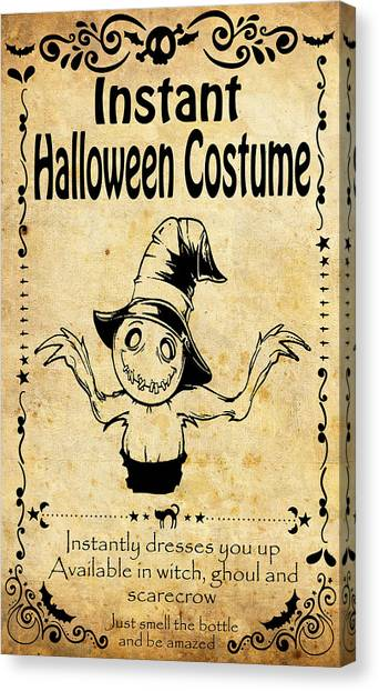 Scarecrows Canvas Print - Instant Halloween Costume, Scarecrow by Long Shot