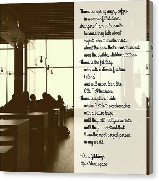 #instapoet #poetrycommunity #poetry Canvas Print by Danielle McGaw