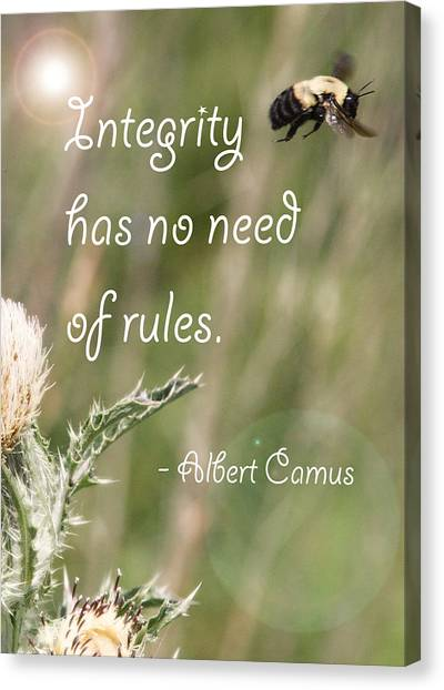 Integrity Canvas Print