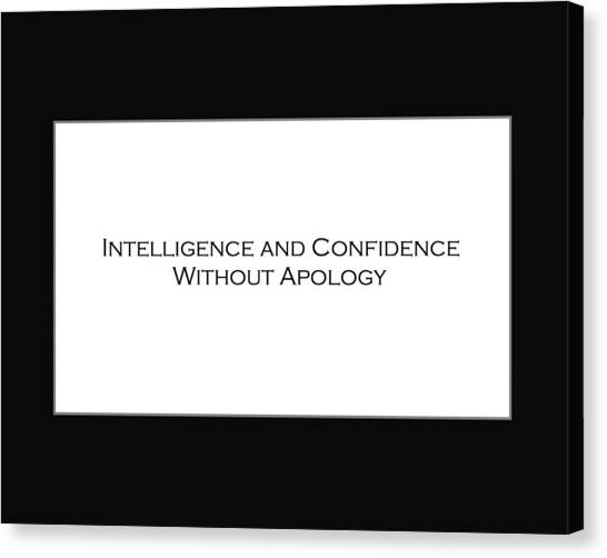 Intelligence And Confidence Canvas Print